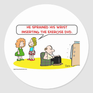 sprained wrist exercise DVD Classic Round Sticker