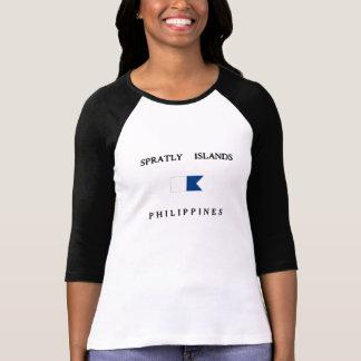 Spratly Islands Philippines Alpha Dive Flag Tee Shirts
