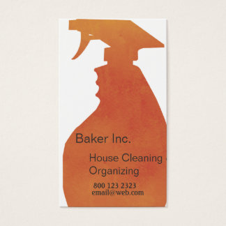 Spray Bottle Domestic House Cleaning Professional Business Card