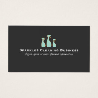 Spray Bottle Home Cleaning Service Business Card