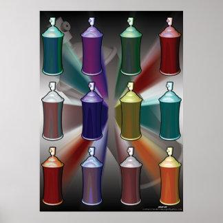 spray can pop art poster