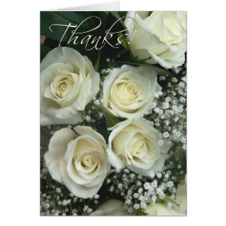 Spray of cream rose Thank you notes! Card