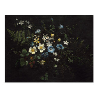Spray of Flowers and Ferns by Titian Ramsay Peale Postcard