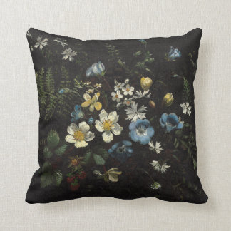Spray of Flowers and Ferns by Titian Ramsay Peale Throw Pillow