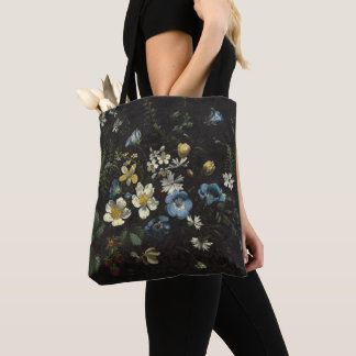 Spray of Flowers and Ferns by Titian Ramsay Peale Tote Bag