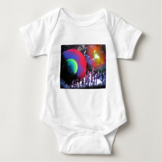 Spray Paint Art City Space Landscape Painting Baby Bodysuit