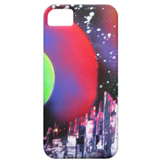 Spray Paint Art City Space Landscape Painting iPhone 5 Case