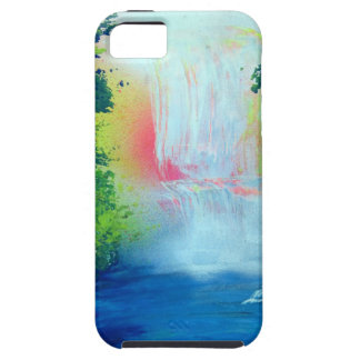 Spray Paint Art Forest Waterfall Sunset Painting Case For The iPhone 5