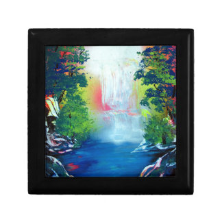 Spray Paint Art Forest Waterfall Sunset Painting Gift Box