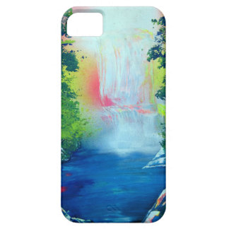 Spray Paint Art Forest Waterfall Sunset Painting iPhone 5 Case