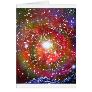 Spray Paint Art Night Sky Space Painting Card