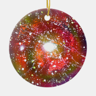 Spray Paint Art Night Sky Space Painting Ceramic Ornament
