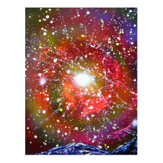Spray Paint Art Night Sky Space Painting Postcard