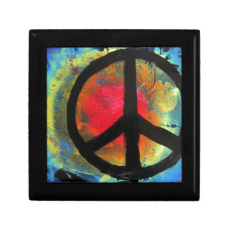 Spray Paint Art Rainbow Peace Sign Painting Gift Box