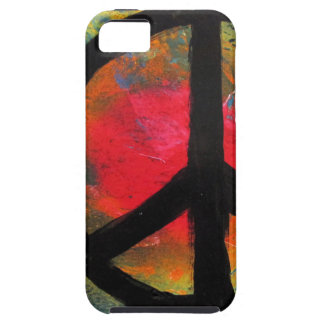 Spray Paint Art Rainbow Peace Sign Painting iPhone 5 Covers