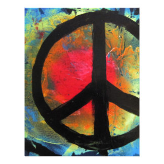 Spray Paint Art Rainbow Peace Sign Painting Letterhead