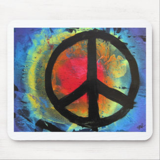 Spray Paint Art Rainbow Peace Sign Painting Mouse Pad