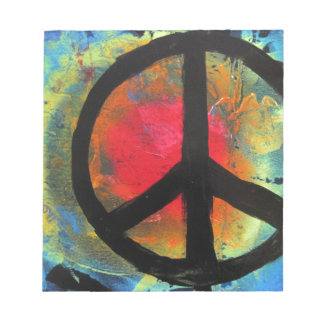 Spray Paint Art Rainbow Peace Sign Painting Notepad