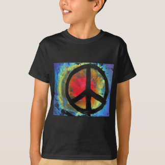 Spray Paint Art Rainbow Peace Sign Painting T-Shirt