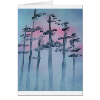 Spray Paint Art Sky and Trees Card