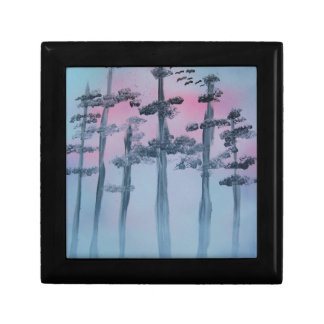 Spray Paint Art Sky and Trees Gift Box