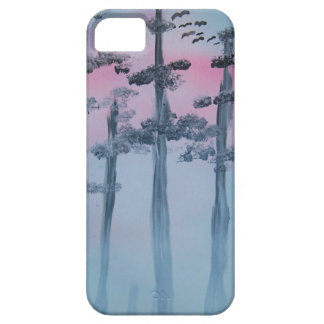 Spray Paint Art Sky and Trees iPhone 5 Cases