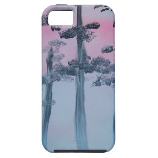 Spray Paint Art Sky and Trees iPhone 5 Covers