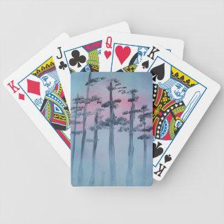 Spray Paint Art Sky and Trees Poker Deck