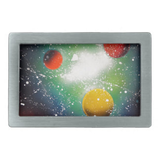 Spray Paint Art Space Galaxy Painting Belt Buckles