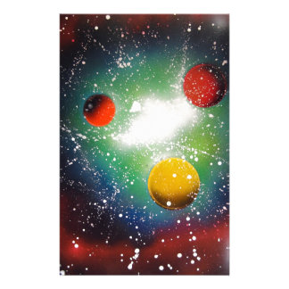 Spray Paint Art Space Galaxy Painting Customized Stationery