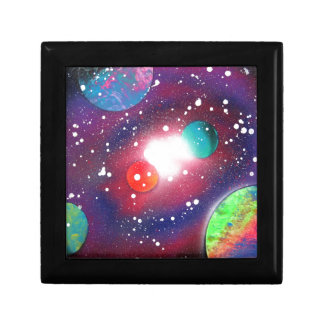 Spray Paint Art Space Galaxy Painting Gift Box