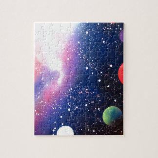 Spray Paint Art Space Galaxy Painting Puzzle