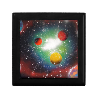 Spray Paint Art Space Galaxy Painting Trinket Box
