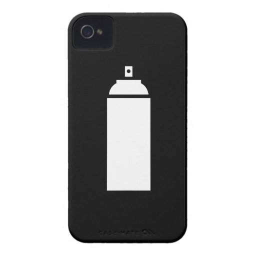 Spray paint pictogram iphone 4 case zazzle for Spray paint phone case