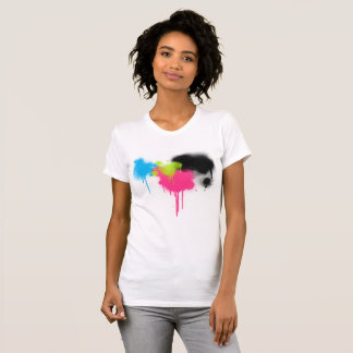Spray Paint Splatter Multi Color Women's T-Shirt