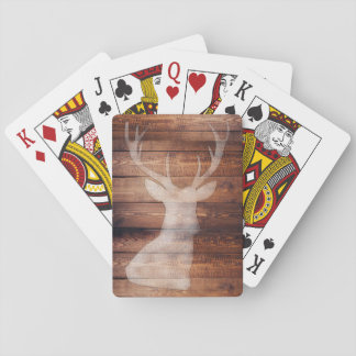 Spray Painted Deer on Wood Playing Cards