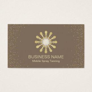 Spray Tanning Salon Golden Sun Modern Confetti Business Card