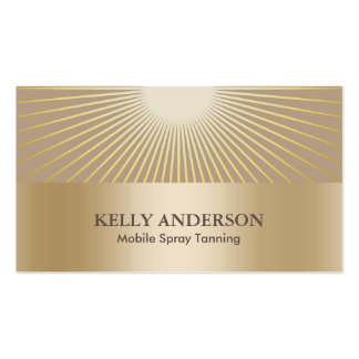 Spray tan business cards and business card templates for Acapulco golden tans salon