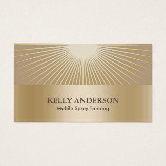 Spray Tanning Salon Golden Sun Rays Modern Business Card