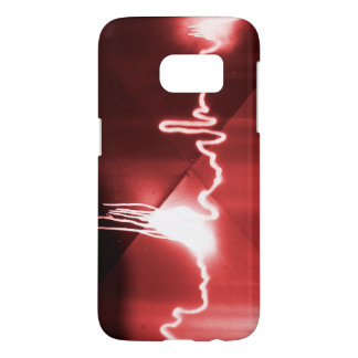 Sprayed graffiti on red metal samsung galaxy s7 case