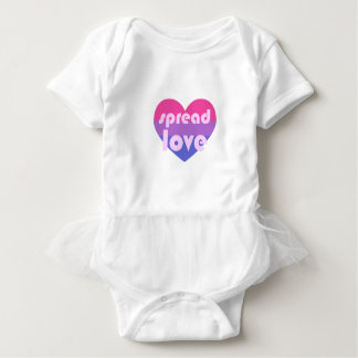 Spread Bisexual Love Baby Bodysuit