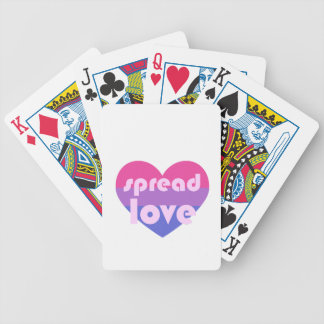 Spread Bisexual Love Bicycle Playing Cards