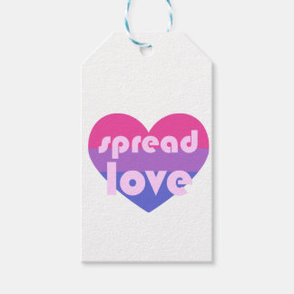 Spread Bisexual Love Gift Tags