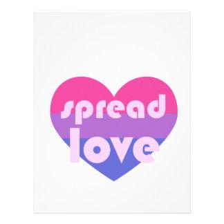 Spread Bisexual Love Letterhead