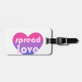 Spread Bisexual Love Luggage Tag