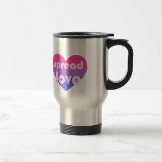 Spread Bisexual Love Travel Mug
