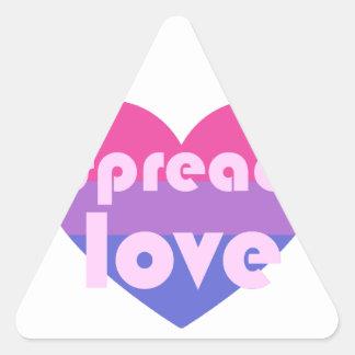 Spread Bisexual Love Triangle Sticker