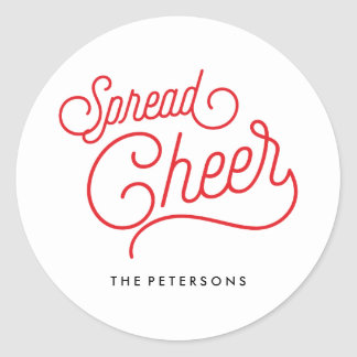 Spread Cheer Classic Round Sticker