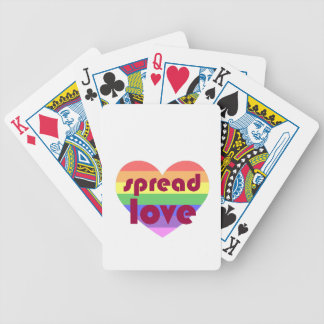 Spread Gay Love Bicycle Playing Cards