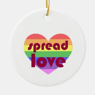 Spread Gay Love Ceramic Ornament